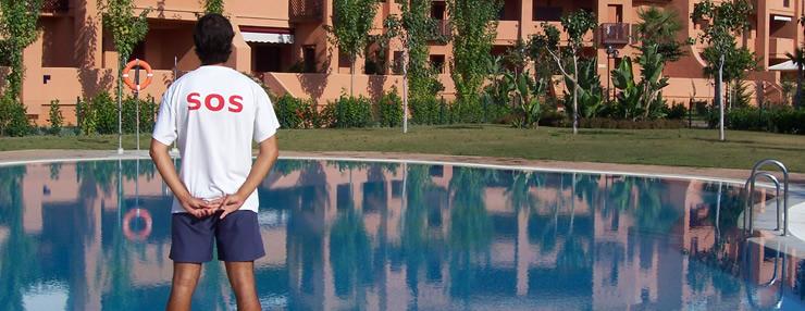 Curso de socorrista acu tico sevilla s o s gesti n for Curso mantenimiento piscinas